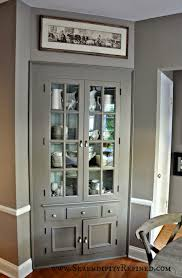 Built In Cabinets In Dining Room by Furniture Magnificent Gray Polished Built In Farm House Corner