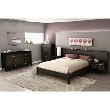 south shore gravity ebony queen headboard with built in platform bedroom decor platform bed with built in nightstands south shore gravity ebony queen headboard with