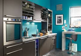 Bleu Canard Peinture by Mur De Cuisine Peint En Bleu U2013 Chaios Com