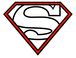 superman symbol with different letters free download clip art