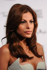 this rich medium brown hair color complements eva mendes u0027 tan