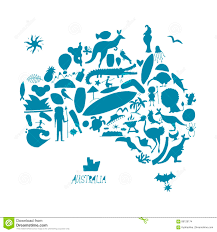 Australian Map Commonwealth Of Australia Map Including Tourism Icon In Flat 4258