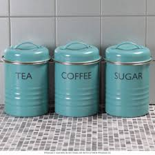 owl kitchen canisters tea coffee sugar canister set blue vintage style kitchen jars