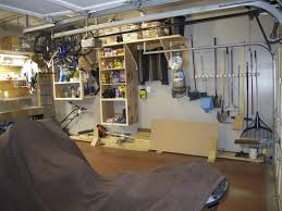 Build Wood Garage Storage by Diy Garage Shelves With Sweep Floor Garage Barrage Pinterest