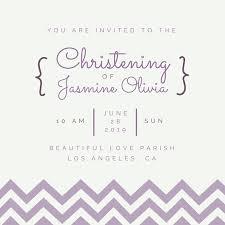 minimal purple chevron christening invitation templates by canva