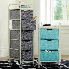 Bathroom Storage Cart Ready To Roll Storage Cart Mini Dot Pbteen