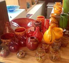 Red Vases And Bowls Vases And Bowls Handmade Blown Glass By Gerry Reilly Picture Of