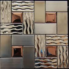 kitchen backsplash stainless steel kitchen stainless steel tile backsplash ssmt269 kitchen mosaic