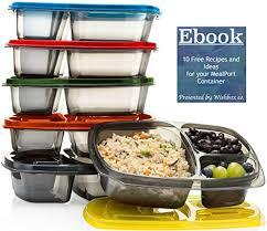 bento box lunch containers for meal prep u0026 portion control 3
