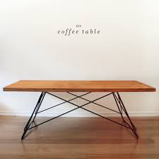 Midcentury Modern Table - how to make a mid century modern inspired diy coffee table curbly