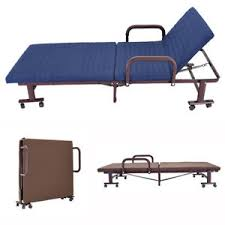 Metal Folding Bed 3ft Metal Folding Bed Guest Visitor Compact Bed Adjustable Back