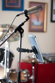 mic stand table attachment mount ipad or galaxy tablet to microphone music stand with mic kit