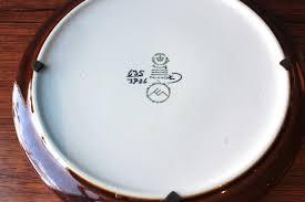 vintage baca fajence plates by malmer for royal copenhagen