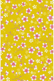 pip studio the official website cherry blossom wallpaper yellow