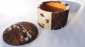 ottoman splendid spotted cowhide rug grey faux hide cow