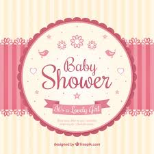 baby shower cards baby shower card with a mobile vector free