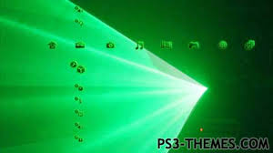 themes com ps3 themes ultimate green laser dynamic theme original