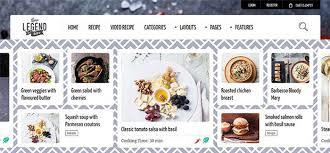 site de recettes de cuisine 10 thèmes pour site web de recettes de cuisine blogpascher