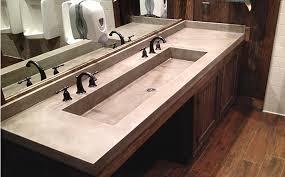 Commercial Bathroom Sinks And Countertop Trueform Commercial Concrete Portfolio