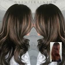 low hight hair rooty cool brunette balayage high and low lights color correction