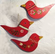 swedish bird ornaments swedish red is so cheery there is never