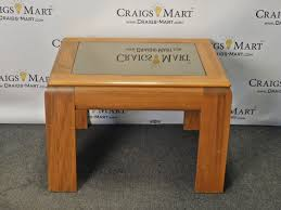 Oak End Tables Oak End Table With Glass Top Craigs Mart