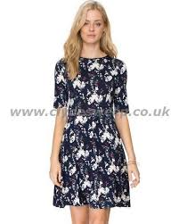 oasis bloom bird skater dress women dresses navy lec19704 49 17