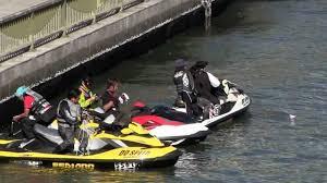 lamborghini jet ski more jet skiing in a river under bridge near tokyo japan youtube