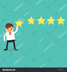 happy businessman giving five rating stock vector 543425128