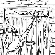 passover coloring page 2 reading the hebrew text on passover day coloring page reading the