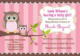 owl baby shower invitations baby shower