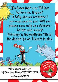 baby shower invitations custom dr seuss baby shower invitations