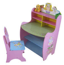 Drawing Desk Kids Girls Pink Desk Chair Wooden Kids Children Princess Drawing Table