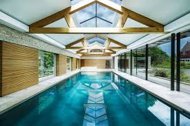 pool house contemporary pool house by re format combines stone copper and oak