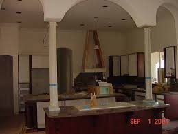 columns on kitchen island half wall kitchen with island redesign