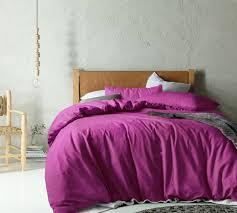 linen u0026 cotton magenta quilt cover set temple u0026 webster