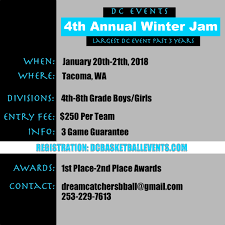 4th annual winter jam d c basketball events