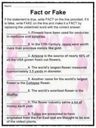 flower facts worksheets types u0026 history for kids