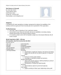Sample Resume For Hr Generalist by Hr Executive Resume Sample Resume For Human Resource Assistant Hr
