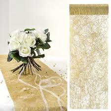 chemin de table mariage chemin de table mariage or métallisé decoration de table badaboum