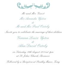 wording of wedding invitations wedding invitation wording from and groom stephenanuno