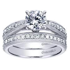 milgrain engagement ring 1 3ctw milgrain bead set engagement ring mullen