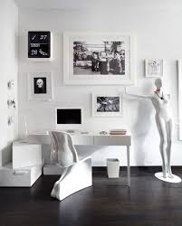 white home office modern home office working place home