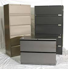 4 Drawer Lateral Filing Cabinet Pre Owned Office Furniture Thrifty Office Furniture