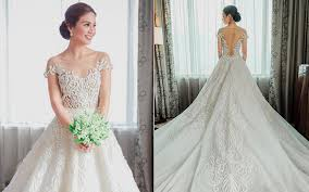 Designer Wedding Dresses Gowns Beautiful Pinoy Celebrity Wedding Gowns Spot Ph