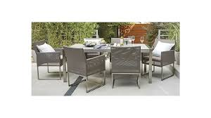 mesh outdoor dining chair u0026 taupe cushion crate and barrel