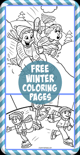 free printable winter coloring pages for kids free printable