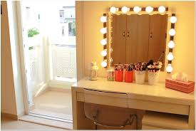 office table decoration items dressing table with lights around mirror design ideas interior