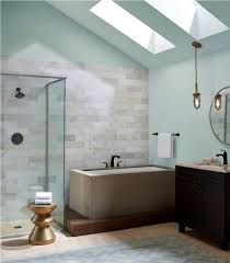 relaxing bathroom ideas stylish glass skylights and built in tub for relaxing bathroom