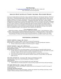 Life Coach Resume Sample by Hockey Coach Sample Resume Resume Templates
